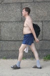Голый мужик с пляжа Петропавловки