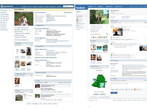 Facebook vs. ВКонтакте