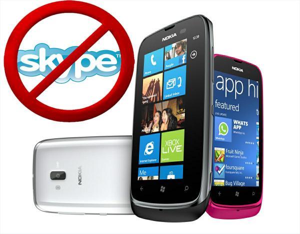 Nokia Lumia 610 Skype