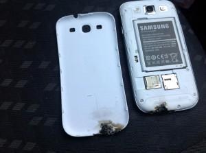 оплавленный Samsung Galaxy S III