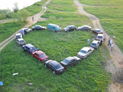 сердце из машин