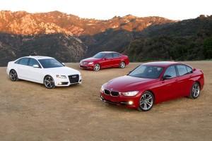 Audi A4, Mersedes-Benz C250 и BMW 328i