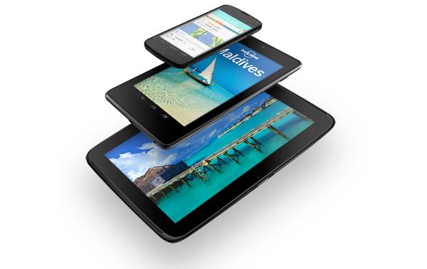 Samsung Google Nexus 10, ASUS Nexus 7 и LG Nexus 4