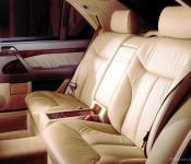 кожаный салон W140
