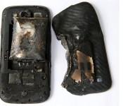 сгоревший Galaxy S4