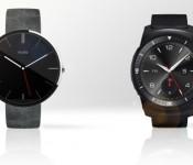 Motorola Moto 360 и LG G Watch R