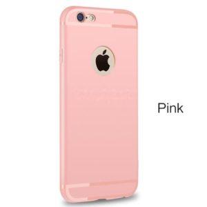 Силиконовый чехол с вырезом для яблока Розовый для iPhone 7